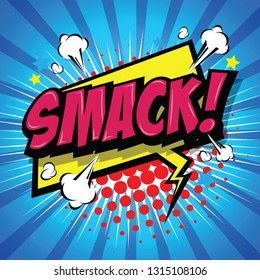 Smack! Comic Speech Bubble, Cartoon. art and illustration vector file.