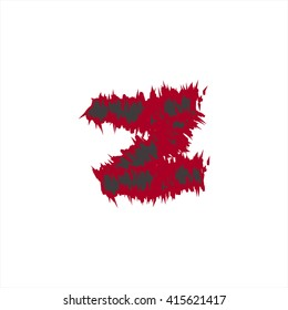 small abstract font color z compatible with abstract font color A-Z and can to do many thing on web design or website.