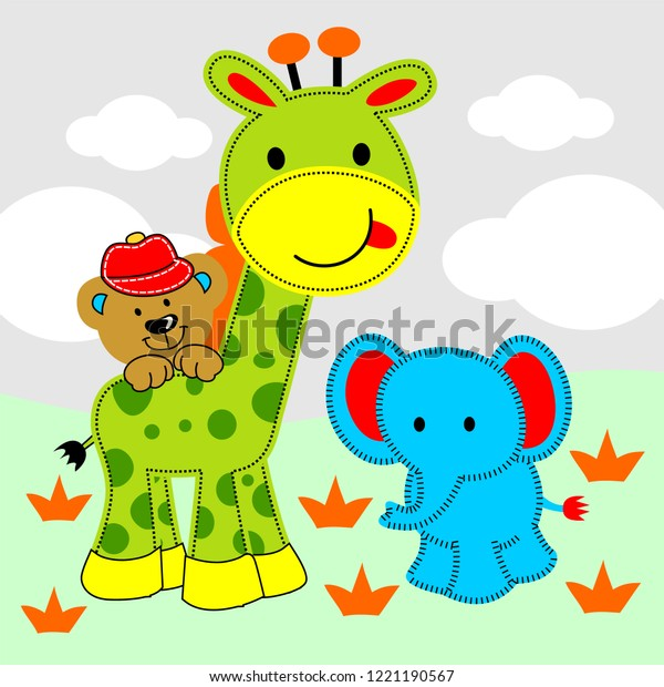 Small Animals Playing Stock Vector (Royalty Free) 1221190567