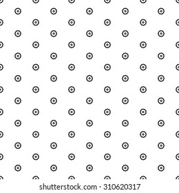 Small black steampunk gear seamless pattern