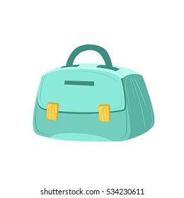 Small Blue Female Purse. Item From Baggage or Bag Cartoon Collection Of Accessories