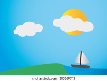 Small Boat On The Coast