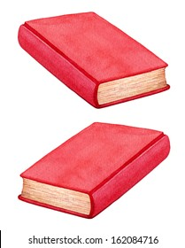 A small book with a red cover vector