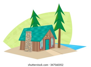 Cartoon Log Cabin Images Stock Photos Vectors Shutterstock