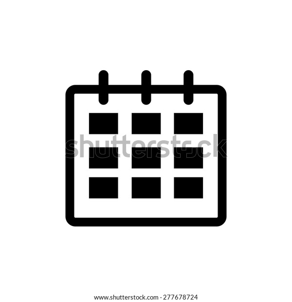 Calendar Icon in trendy flat style isolated on grey