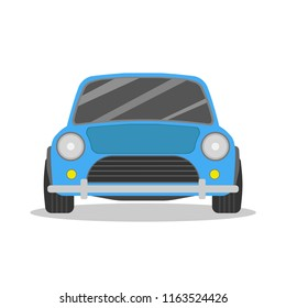 Small car icon. Car front view. Vector illustration.