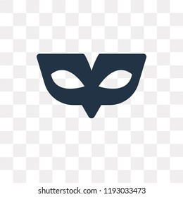 Small Carnival Mask vector icon isolated on transparent background, Small Carnival Mask transparency concept can be used web and mobile