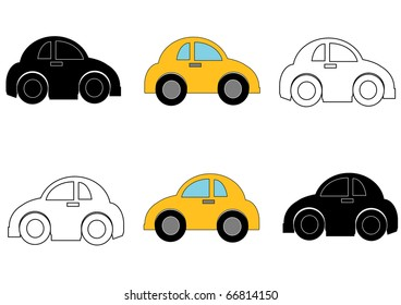 Small Cars Right and Left