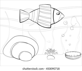 small cartoon sea world who can beautifully paint