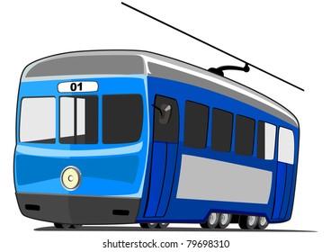 small cartoon tram