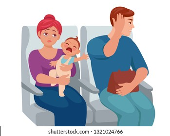 small child cries loudly in public transport and interferes with passengers
