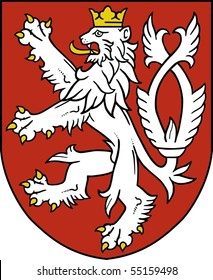 Small coat of arms of the Czech Republic VECTOR