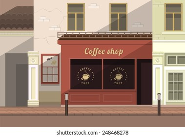 a small coffee shop on the streets of the old town