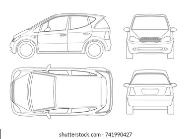 Car Outline Side Stock Vectors Images Vector Art