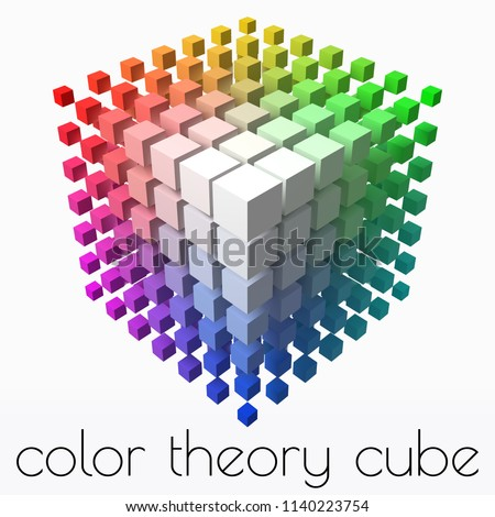 small cubes makes color