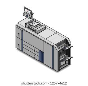 A small digital press/copier/scanner/printer/publisher.