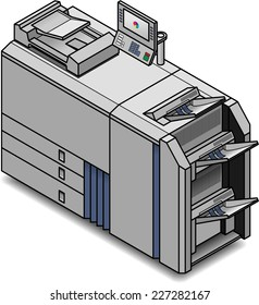 A small digital press/copier/scanner/printer/publisher .