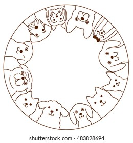 Small dogs circle