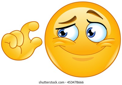 It is too small. Emoticon showing S size with fingers.