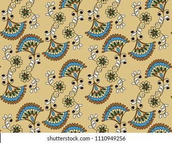 small flower paisley pattern