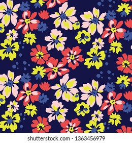Small flowers. Floral background for textiles.