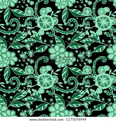 fbaa633f31f29 Small Flowers Seamless Pattern Country Style Stock Vector (Royalty ...