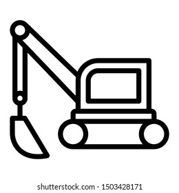Small Forklift with Bucket Vector Icon