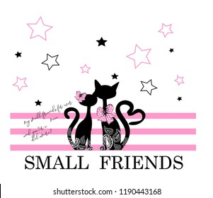 small friends for t-shirt