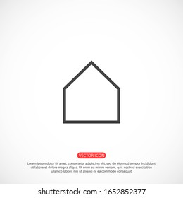 Small house Icon Vector. Simple flat symbol. Illustration pictogram Small house Icon Vector image to be used in web applications, Small house Icon Vector mobile applications and print media