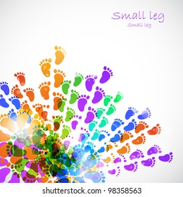 small legs doing the first steps, vector illustration