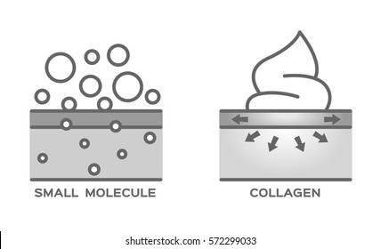 small molecule and collagen foam cream vector