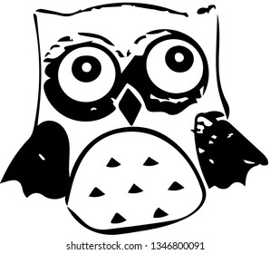 Small owl (vector)