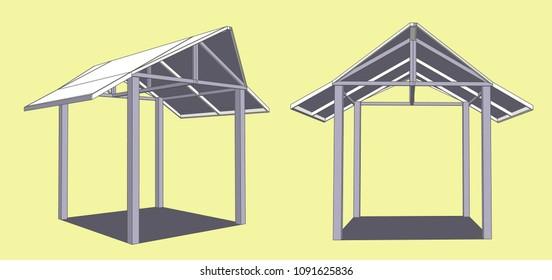 small pavilion vector & Illustratoin