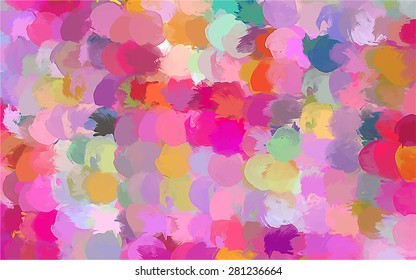 Small pink brush strokes background. Vector version