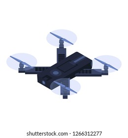 Small quadrocopter icon. Isometric of small quadrocopter vector icon for web design isolated on white background