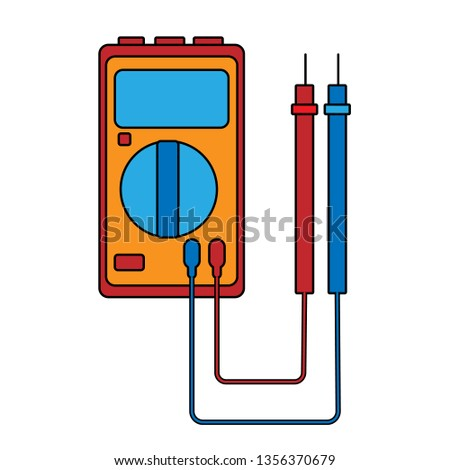 Small Red Blue Electricity Meter Tester Stock Vector ... on