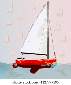 Red Sailboat Images, Stock Photos & Vectors | Shutterstock