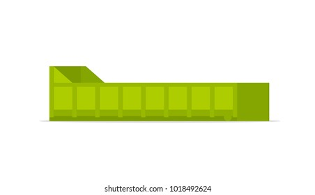 Small roll on off skip. Vector image isolated on white background