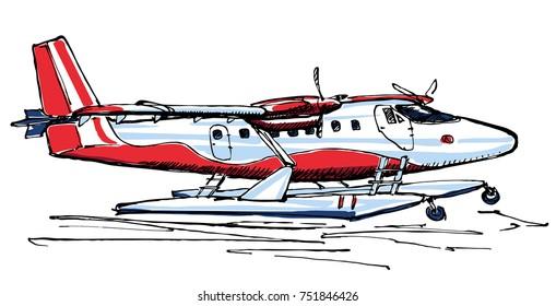 Small seaplane sketch
