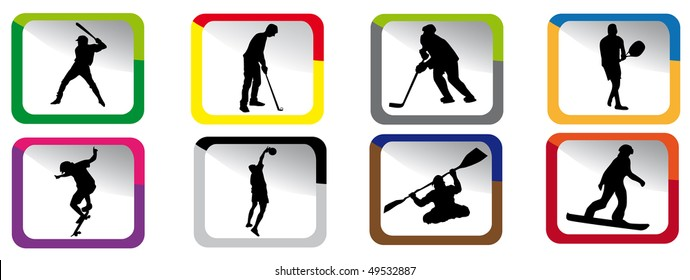 Small sport icons in various colors.