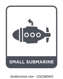 small submarine icon vector on white background, small submarine trendy filled icons from Transportation collection, small submarine simple element illustration
