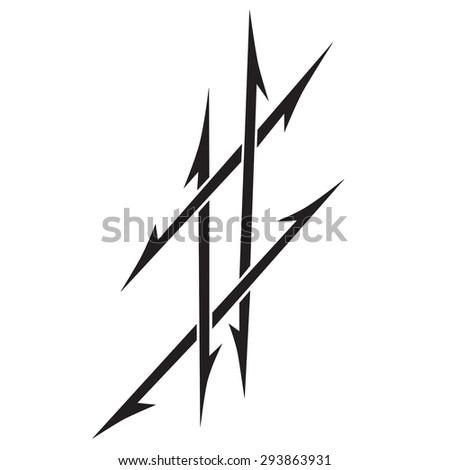 Small Tattoo Designs Men Stock Vector Royalty Free 293863931
