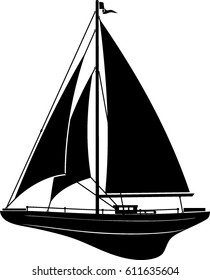 Small Wooden Sail Boat