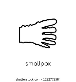 Smallpox icon. Trendy modern flat linear vector Smallpox icon on white background from thin line Diseases collection, editable outline stroke vector illustration