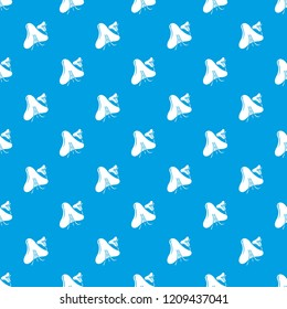 Smallpox virus pattern vector seamless blue repeat for any use