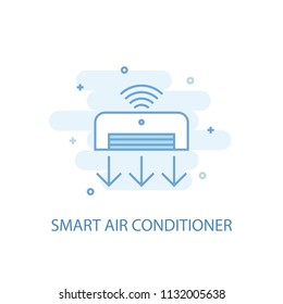 Smart Air Conditioner line trendy icon. Simple line, colored illustration. Smart Air Conditioner symbol flat design from Smart Home set. Can be used for UI/UX