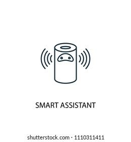 smart assistant concept line icon. Simple element illustration. smart assistant concept outline symbol design from Smart home set. Can be used for web and mobile UI/UX