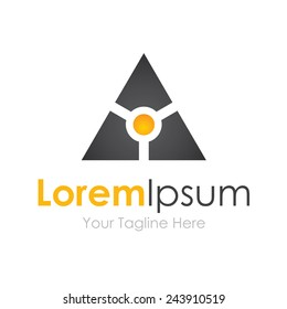 Smart black technology futuristic logo business element icon