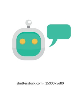Smart chatbot icon. Flat illustration of smart chatbot vector icon for web design