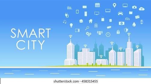 Smart City. urban landscape.